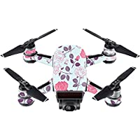 Skin For DJI Spark Mini Drone – Vintage Floral | MightySkins Protective, Durable, and Unique Vinyl Decal wrap cover | Easy To Apply, Remove, and Change Styles | Made in the USA