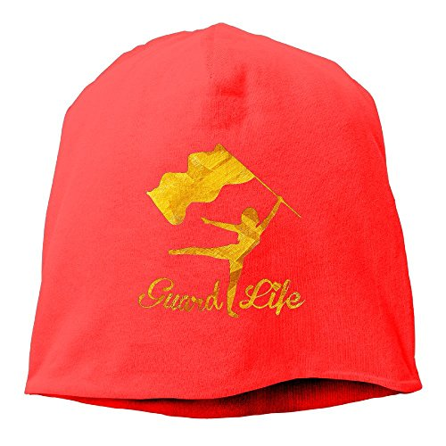 Red Sickle Leaf (MRHS Colorguard Beanie Hats Knit Skull Caps Winter Beanies For Men Women Red)