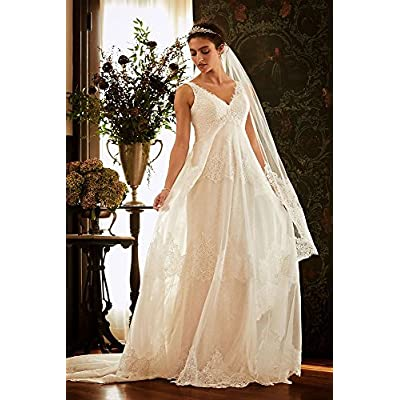 Sample: As is Banded Eyelash Lace Layered Wedding Dress Style AI25050130 at Women's Clothing store