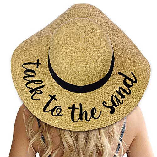 (Womens Big Bowknot Straw Hat Floppy Foldable Roll up Beach Cap Sun Hat UPF 50+)