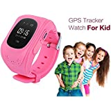 COKU Q50 Kids Smart Watch with gps tracker for all android/ios phones (Pink)