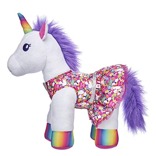 Build A Bear Workshop Rainbow Unicorn Dress