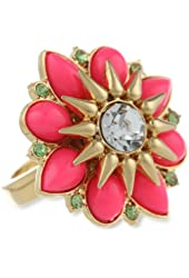 """Juicy Couture """"Malibu Girl"""" Cabachon Flower Adjustable Ring"""