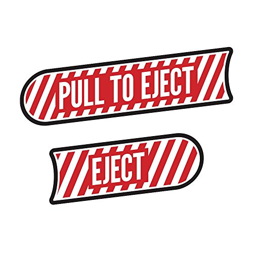 - Off-Camber Designs Pull to Eject Decal Pair for All Jeep Wrangler JK Models 2007-2018