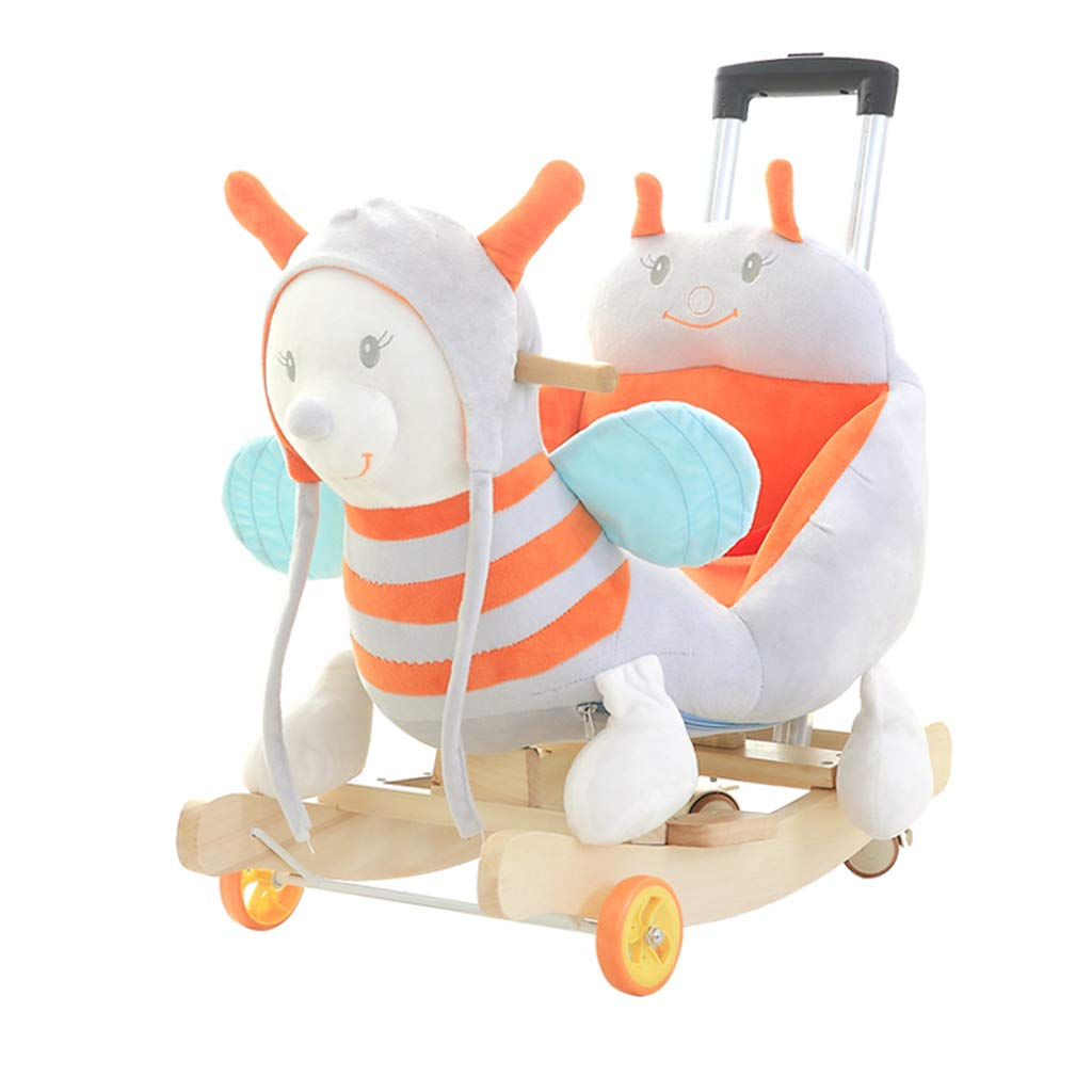 minoristas en línea LQ LQ LQ Silla Mecedora de la música Rocking Horse para niños Pequeño Caballo de Madera para bebés con Juguete con Varillas de Empuje mecedoras mecedoras 60  28  60 cm  Venta barata