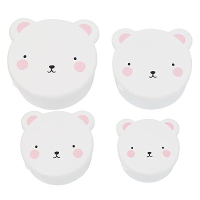 A Little Lovely Company SBBEPI03 - Set de 4 cajas, diseño oso polar: Bebé
