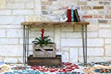 Industrial 46 Inch Natural Console Table