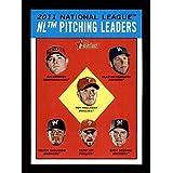 2012 Topps Heritage #7 Ian Kennedy Clayton Kershaw Roy Halladay Yovani Gallardo Cliff Lee Zack Greinke League Leaders