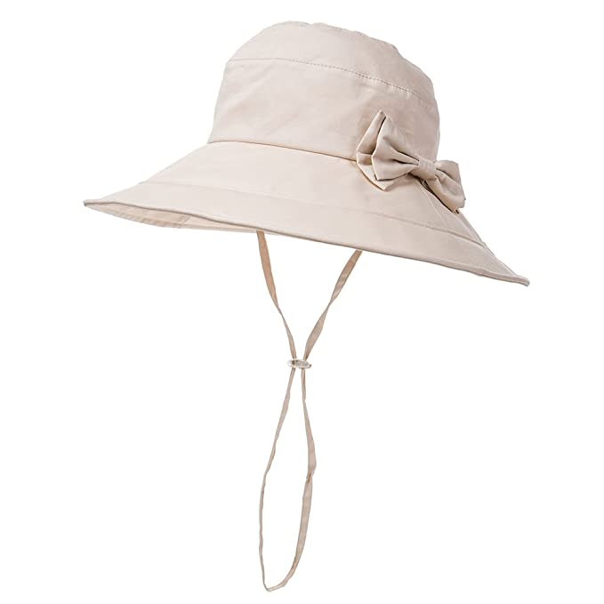 4cfdc17f Packable Bucket Wide Brim Sun Hat for Small Head Women Beach SPF 50  Protection Travel Bonnie