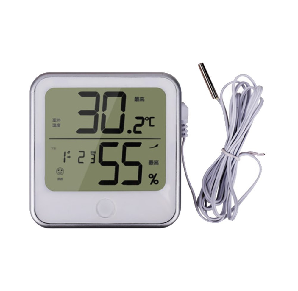 RUIX Thermo-Hygrometer Home Indoor Alarm Clock Hygrometer Office Electronic LCD Thermometer