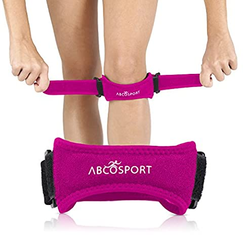 Patella Knee Strap for Knee Pain Relief for Hiking, Soccer, Basketball, Volleyball & Squats (1 Piece), Pink