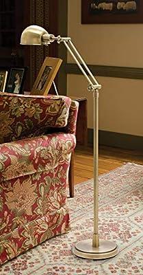House of Troy AD400-SN Addison 1LT Adjustable Floor Lamp, Satin Nickel Finish
