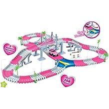 Princess Create A Road Pink Magic Journey Flexible Track Set for Girls (168 Pcs)