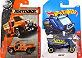 HOT WHEELS - AERO POD (SWAT) BLUE #64 HW Rescue police rescue & Fire Stalker #74 Orange 2017 Matchbox Brush Fire Truck in Protective Cases