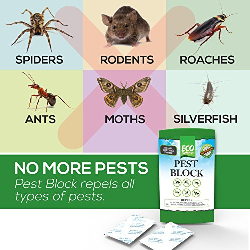 Eco Defense Pest Control Pouches - All Natural - Repels Rodents, Spiders, Roaches, Ants, Moths & Other Pests - 12 Pack - Best Mouse Trap Alternative by Eco Defense (Image #3)