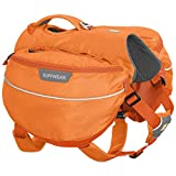 RUFFWEAR - Approach Full-Day Hiking Pack for Dogs, Orange Poppy, X-Small