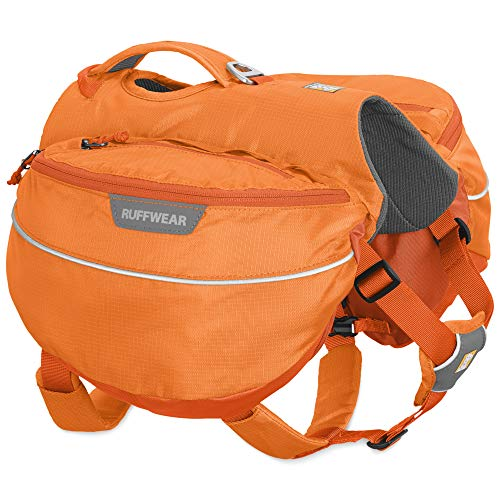 RUFFWEAR Hiking Pack for Dogs, Medium Sized Breeds, Adjustable Fit, Size: Medium, Orange Poppy, Approach Pack, 50102-801M ()