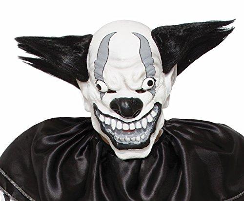 Forum Novelties 77085 Bezerk Black and White Evil Clown Mask, Black/White - Pennywise Costume Uk