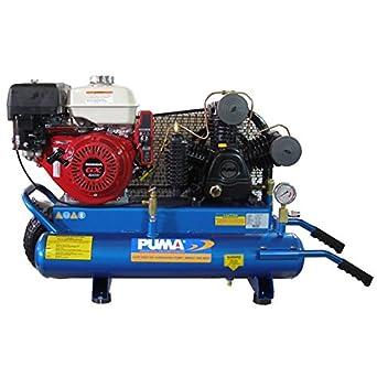 Puma compresores de aire tue-8008hge comercial doble tanque 2 etapa carretilla estilo cinturón disco