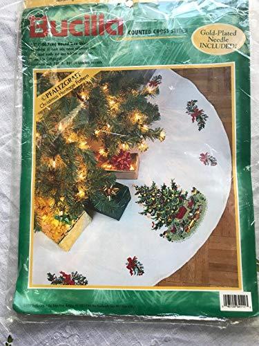 Counted Cross Stitch Christmas Tree Skirts - Bucilla
