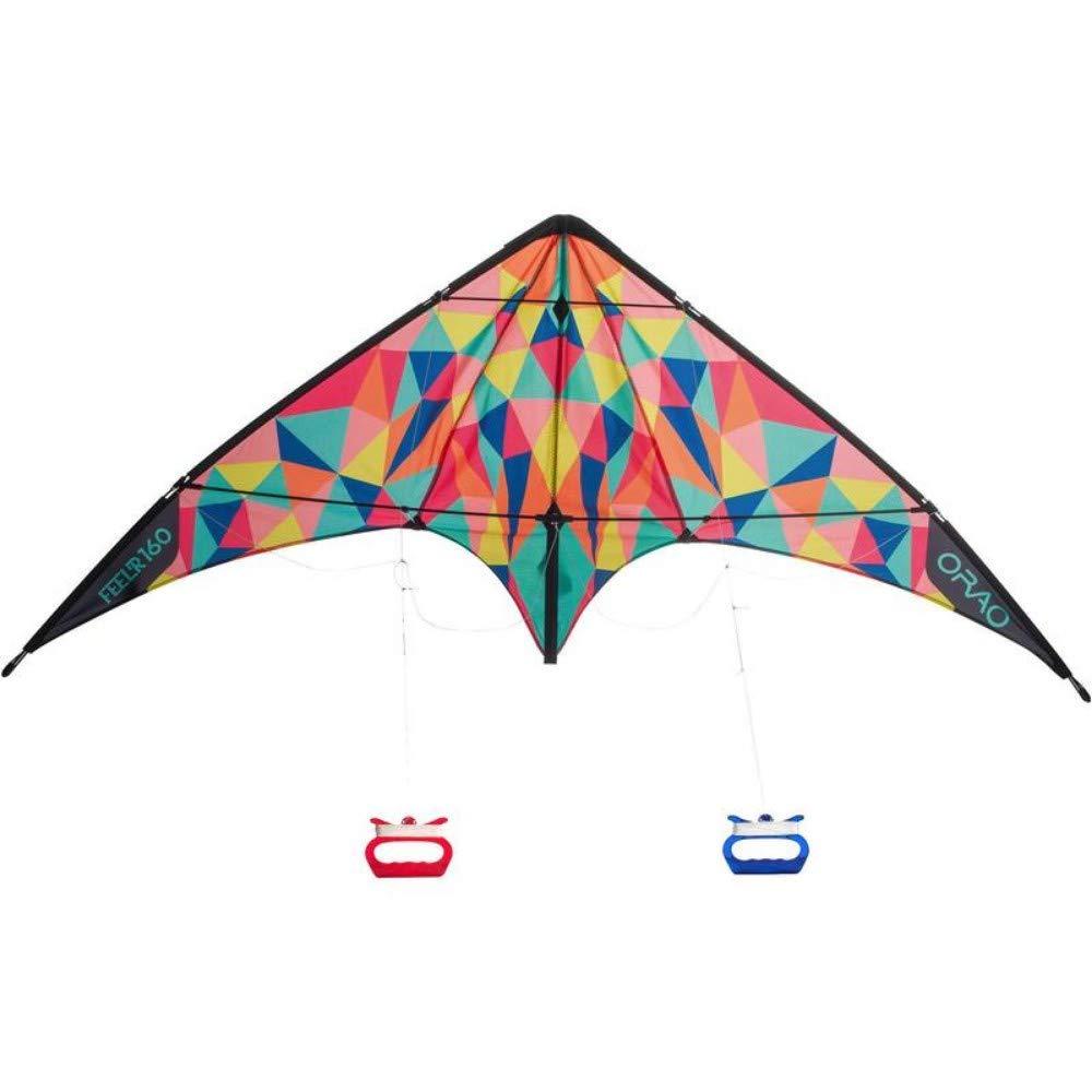 YPKHHH Creative Nouvelle Ligne à Deux Lignes cerf-Volant pilotable Adulte Grande Remise en Forme en Plein air Brillant 160cm + 68cm