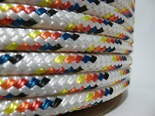 5/16'' x 300 ft. Double Braid Yacht Braid Polyester Sailboat Rigging Nautical Rope Spool. Valley Rope. by Valley Rope