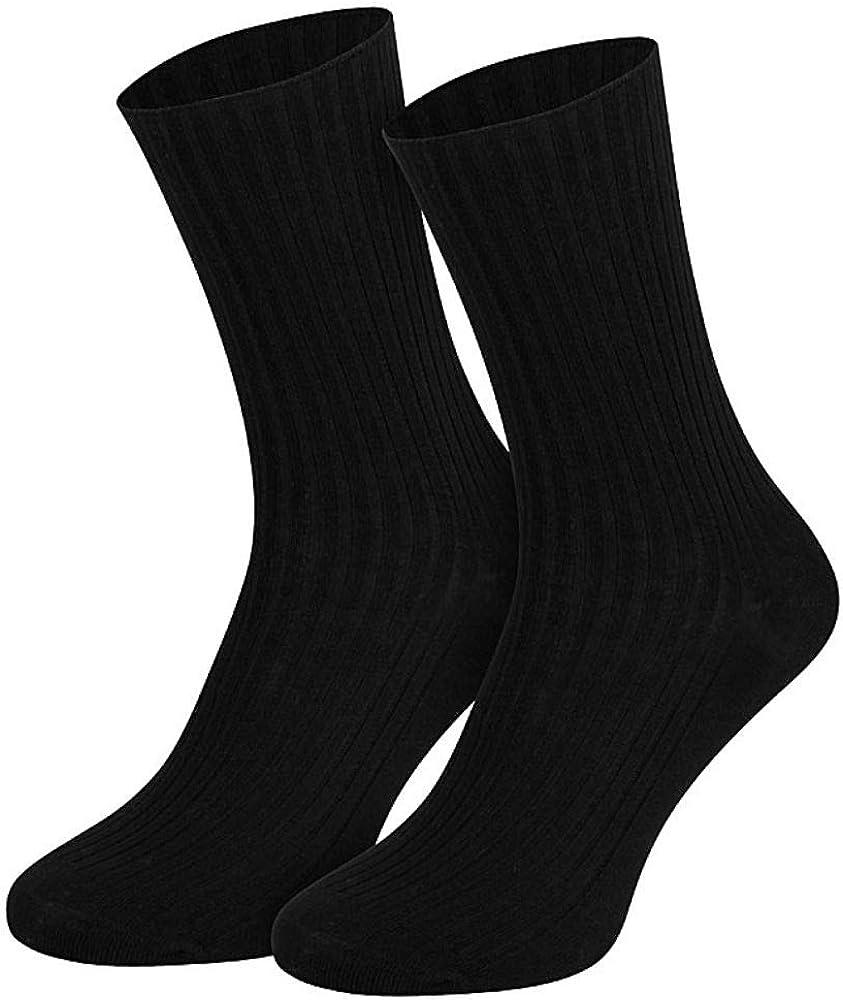 4 Paar Damen Socken Cocain  ohne Gummi 100/% Baumwolle 1//1 Rippe grau 35 bis 42