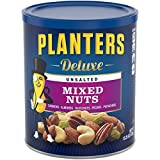 Planters Deluxe Unsalted Mixed Nuts, 15.25 Ounce For Sale