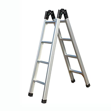 LJFYMX Escalera Pesada Plegable Escalera Plegable Doble de ...