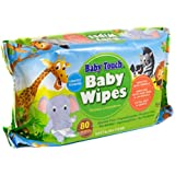 Baby Touch Wipes. Pack of 80 Premium Quality Scented Baby Wipes. Cleansing Water Wipes for Sensitive Skin. Disposable Moist Wipes. Soft Wipes for Cleaning, Refreshing. Hypoallergenic, Alcohol-Free.
