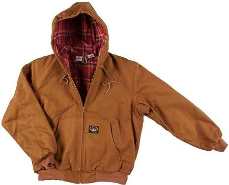 a472e5da55a7 Amazon.com  Rasco FR Mens Rasco Flame Resistant Hooded Jacket  Clothing