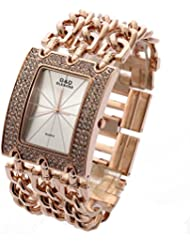 Sheli Rose Gold Stainless Steel Sturdy Bracelet Watch for Woman Girlfriend Wife Festival, 40mm