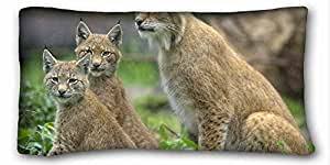 Generic Personalized Animal Custom Cotton & Polyester Soft Rectangle Pillow Case Cover 20x36 inches (One Side) suitable for X-Long Twin-bed