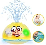 Bath Toys Bathtub Toys Water Spray Toys with LED Light Baby Bath Toys with Automatic Induction Water Spray Bat