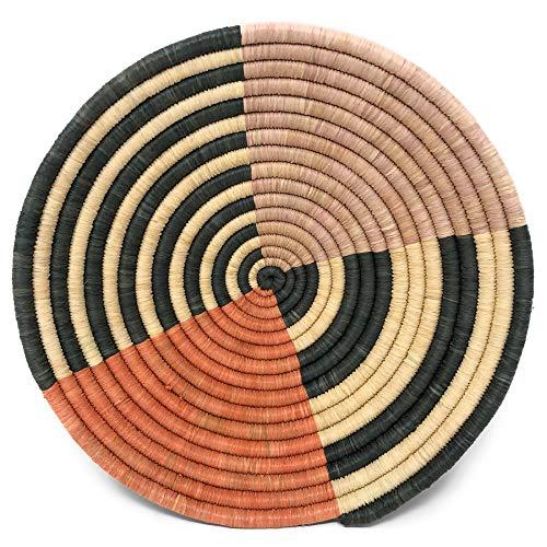 Terra Basket Cotta - The Barrington Garage African Fair Trade Handwoven Raffia Basket, Small, Terra Cotta