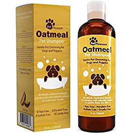 HONEYDEW Oatmeal Pet Shampoo for Dogs & Puppies – Best All Natural Doggy Shampoo & Conditioner for Itchy & Dry Skin – Medicated Strength Deodorizer – 8 oz