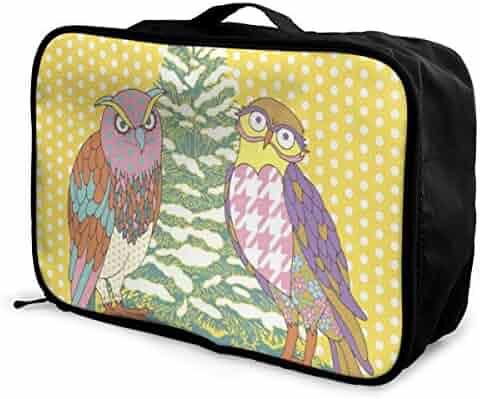 Portable Luggage Duffel Bag Cute Corgi Travel Bags Carry-on In Trolley Handle