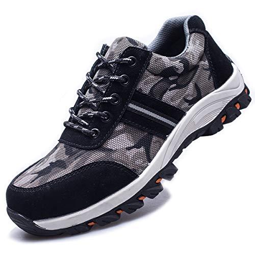 De Suadeex Hombre Puntera Senderismo Unisex Estilo Entrenador 05 Acero Mujer Deporte S1 Trabajo Zapatos Zapatillas Zapatilla Seguridad negro Con Deportivos twBwF