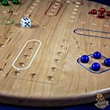 "4 Player Wahoo/Aggravation Board Game in Local Hardwoods. 18"" Diameter - Handmade in Your Choice of Cherry (Pictured), Maple, or Walnut -  Woodworking Maniak"