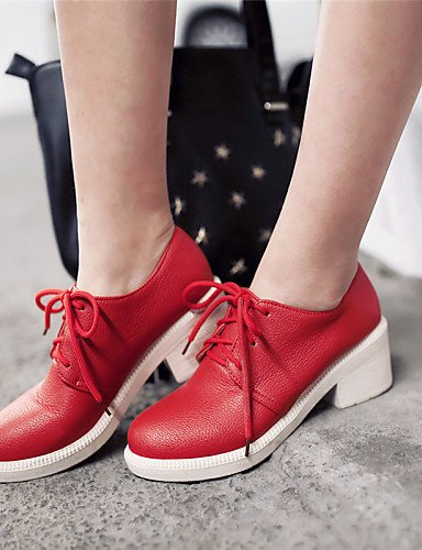 5 Plateau Shoes A Cn38 Uk5 us7 Dressed Red Black tondo 5 Heel Casual Outdoor Njx con Toe Donna Eu38 tacco Hug Beige Yellow Nero Heels Wholesale AqO5xw16