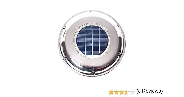 Solar Ventilador Ventilador Acero Inoxidable Incluye batería de W ...