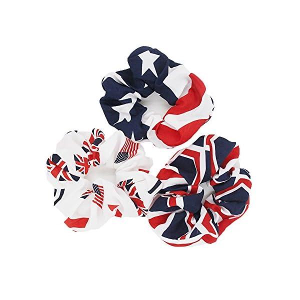 AISHNE-Women-Hair-Scrunchies-USA-American-Flag-Union-Jack-Scrunchie-Pack-of-3