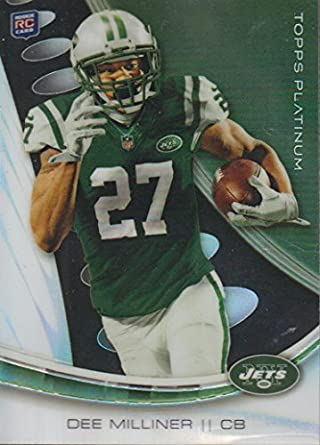 2013 Topps Platinum Dee Milliner Jets Rookie Football Card  103 at ... 7286d4dd9