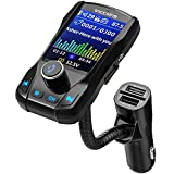 "Best Bluetooth 4.0 Transmitters - VicTsing Bluetooth FM Transmitter for Car, 1.8"" Color Review"
