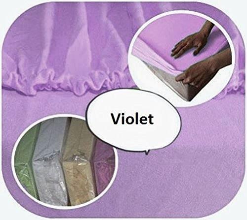 Sábana bajera ajustable de 100% algodón 160 x 70 cm para cama infantil de bebé, color violeta Baby Comfort