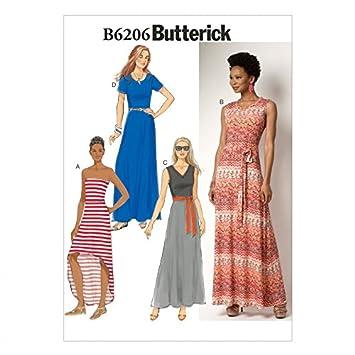 Butterick Schnittmuster 6206 Maxi Kleider und Gürtel: Amazon.de ...