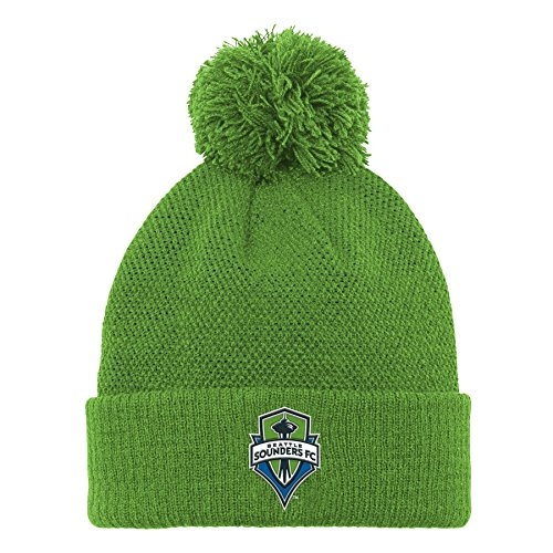 MLS Seattle Sounders FC R S8FMS Youth Boys Cuffed Knit Hat with Pom, One Size (8), Green