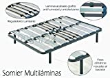Somier multiláminas con reguladores lumbares-135x190cm-PATAS 26CM (5 patas incluidas)