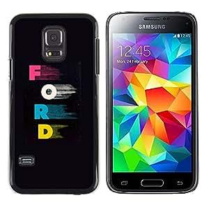 Paccase / SLIM PC / Aliminium Casa Carcasa Funda Case Cover - Letters Pink Blue Car Company Black - Samsung Galaxy S5 Mini, SM-G800, NOT S5 REGULAR!