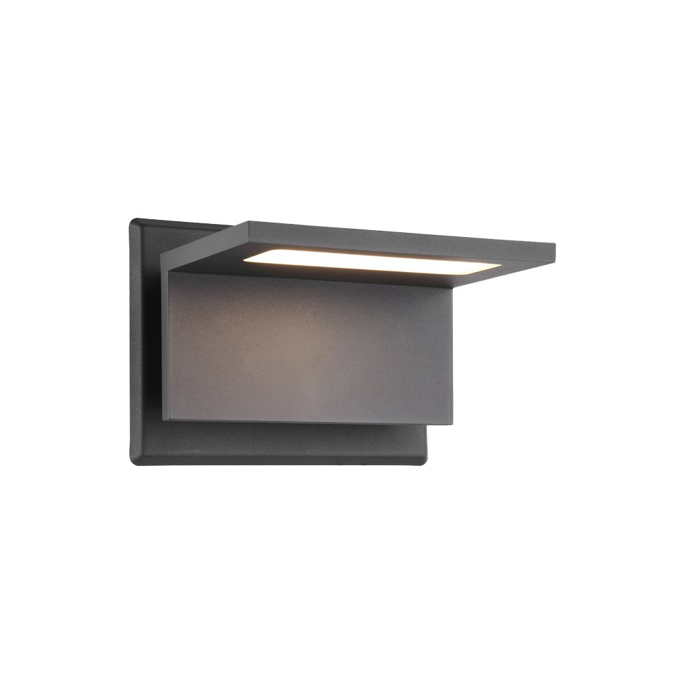 Inowel Waterproof Outdoor Lighting Surface Mounting LED Wall Lamp, Painted Grey Color Aluminium Finished 3000K